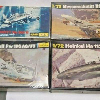 https://www.ebay.com/itm/124334273823	DP0015 LOT OF 4 HELLER 1/72 MODEL KITS IN BOXS GERMAN WW2 FIGHTER PLANES	Buy-It-Now	 $20.00