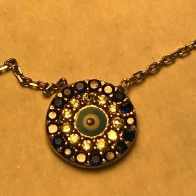 https://www.ebay.com/itm/124320686793	WL104 STERLING SILVER AND BLUE EVIL EYE NECKLACE	BIN	 $20.00