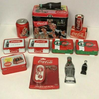 https://www.ebay.com/itm/114403189200	WL144 COCA-COLA LOT OF RANDOM ITEMS INCL TINS, BOTTLE OPENER, SHARPENER	Auction Starts 09/16/2020...