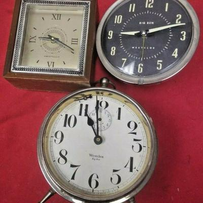 https://www.ebay.com/itm/124334137570	LX3009 LOT OF 3 VINTAGE  WESTCLOX WIND UP ALARM CLOCKS FOR REPAIR OR PARTS	Auction Starts...