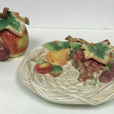 https://www.ebay.com/itm/124334116587	WL156 FITZ AND FLOYD CERAMIC FRUIT PLATE AND APPLE MINI COOKIE JAR	Auction Starts 09/16/2020 After...