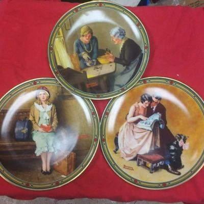 https://www.ebay.com/itm/124311237404	WL3089 SET OF THREE 8 1/2 INCH DIAMETER NORMAN ROCKWELL COLLECTORS PLATES 	$22 	Buy-It_Now