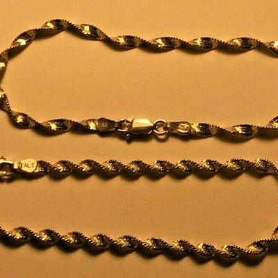 https://www.ebay.com/itm/114387005267	WL120 STERLING SILVER LOT OF 2 TWISTED CHAIN BRACELETS	BIN	 $20.00