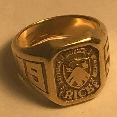 https://www.ebay.com/itm/124334140121	PR203 GENE MEYERS ENGRAVED CLASS OF 1959 RING RICE COLLEGE 10K GOLD	Auction Starts 09/16/2020 After...