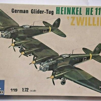 https://www.ebay.com/itm/124334300310	DP0026 ITALAEREI 1/72 MODEL KIT IN BOX GERMAN GLIDER-TUG HEINKEL HE111 Z-1	Buy-It-Now	 $20.00