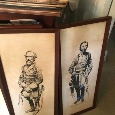 Vintage Jack Davis framed drawings.  Davis was an artist for Madd magazine.