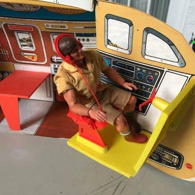 Vintage Big Jim and his airplane