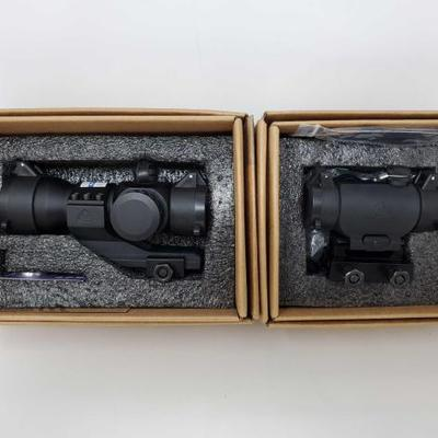 1044	  2 Trinity Force Rifle Scopes Includes 1×30, other unknown