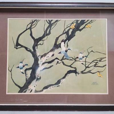 244	  Water Color Painting By James March Phillips Art Measures Approx: 23.5
