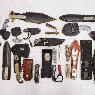 1036	  12 Pocket Knives, 7 Knives, and More! Blades are between 2.5