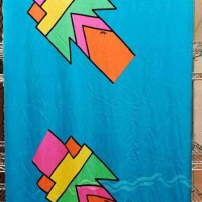 2844	  Highly Collectible Peter Max Fabric Circa 60s/70s Measures Approx 61