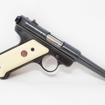 505	  Ruger M.K.II .22 Cal LR Semi-Auto Pistol With 3 Magazines Serial Number: NRA-04557 Barrel Length: 5