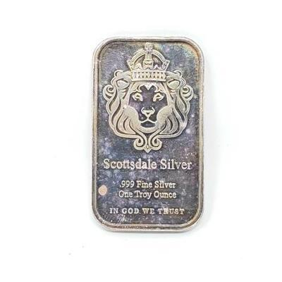 2532	  One Troy Ounce Fine Silver Bar One Troy Ounce Of Fine Silver