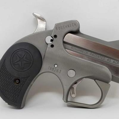 845	  Bond Arms Roughneck .45 ACP Semi-Auto Pistol, NO CA BUYERS Serial Number: 198263 Barrel Length: 2.5