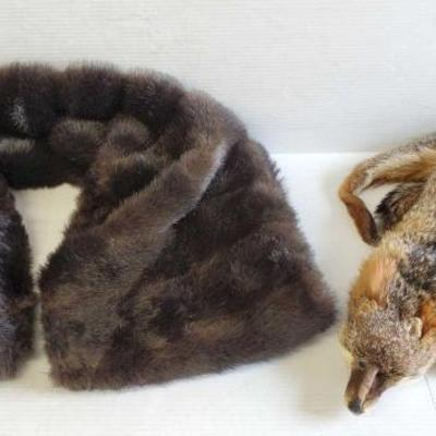 7062	  Fox Stole, and A Fur Stole Fox Stole, and A Fur Stole