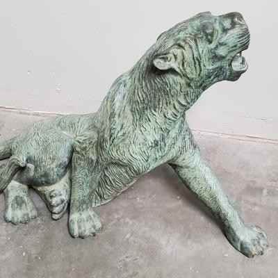 222	  Metal Panther Sculpture Measures Approx: 44
