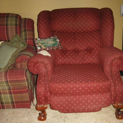 Overstuffed recliner (there are 2)   BUY IT NOW $195.00 EA