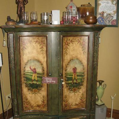 Hooker Furniture Golf theme entertainment chest                                 BUY IT NOW $ 265.00