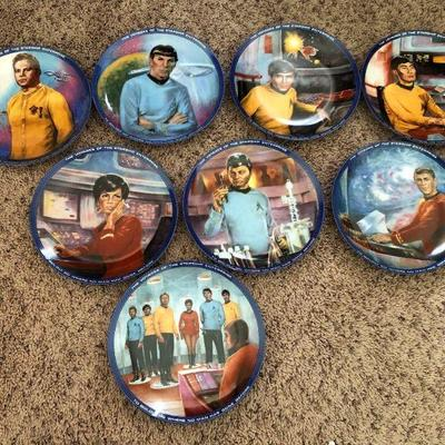 Star Trek Collectible Plates - Set of Eight with COA's and boxes
