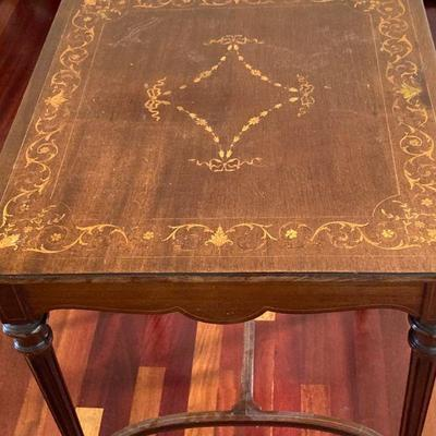 Inlaid top side table