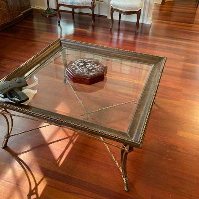 Picture frame style coffee table
