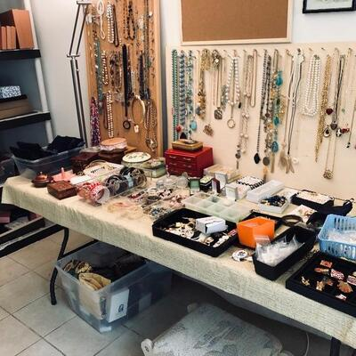 Tons of good-quality costume jewelry
