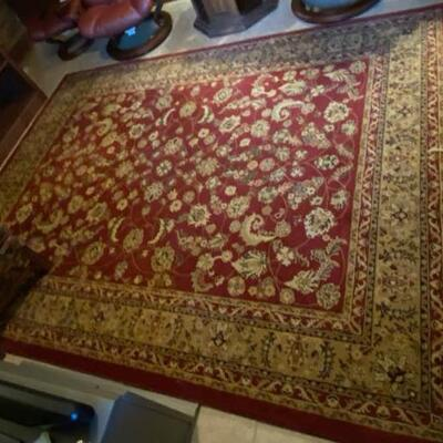 Red Floral Area Rug