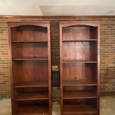 Mahogany-Colored Study Shelves