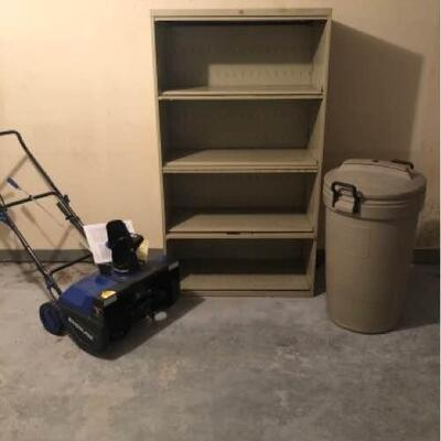 Snowblower and Metal Shelving