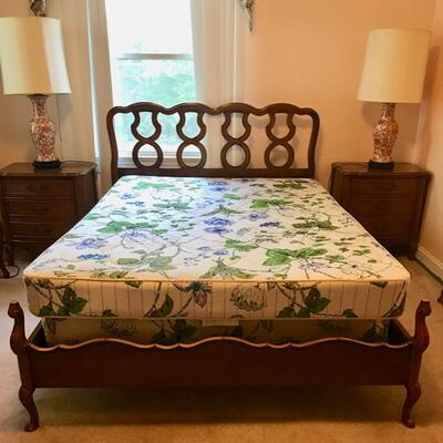 Dixie Furniture double bed with Serta boxspring and mattress