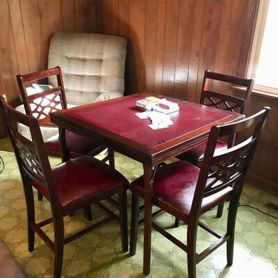 Card table and 4 chairs $99