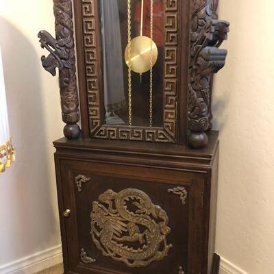 Asian grandfather clock