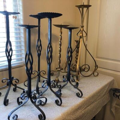 Wrought iron candle sticks