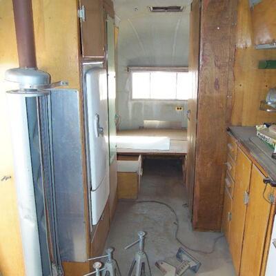 Inside of trailer