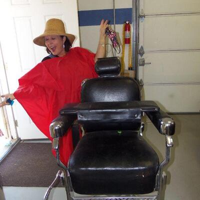 Koken barber shop char complete with booster seat