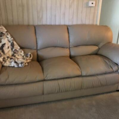 Leather couch excellent. Condition