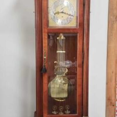 1204 Howard Miller Triple Chime Grandfather Clock Model Number- 610-295 Measures Approx- 25