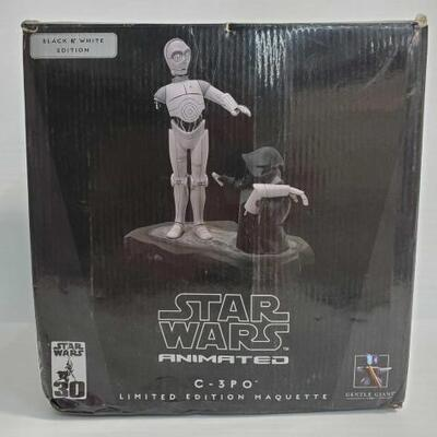 2013 Star Wars Animated C-3PO Limited Black and White Edition Maquette in Box Star Wars Animated C-3PO Limited Black and White Edition...