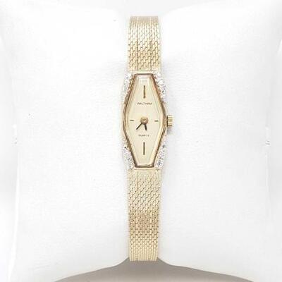 600 Waltham Watch With Diamonds Waltham Watch With Diamonds