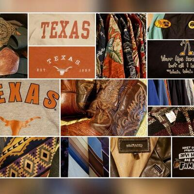 Vintage Clothing, Boots, Hats, Belts & More