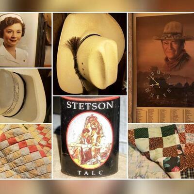 Quilts, John Wayne, Hats & Stetson