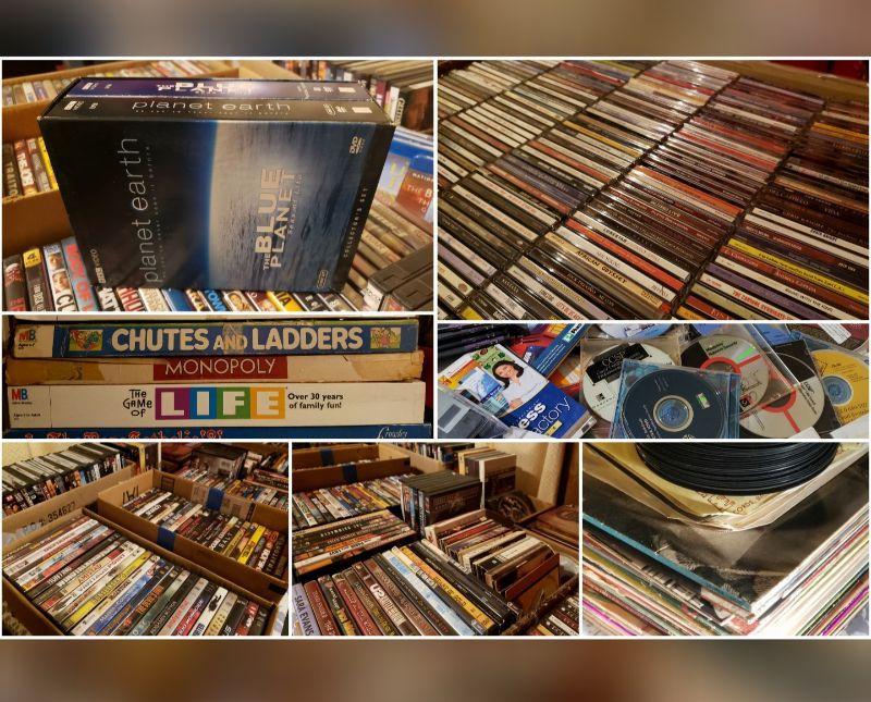 CD's, DVD's & Games