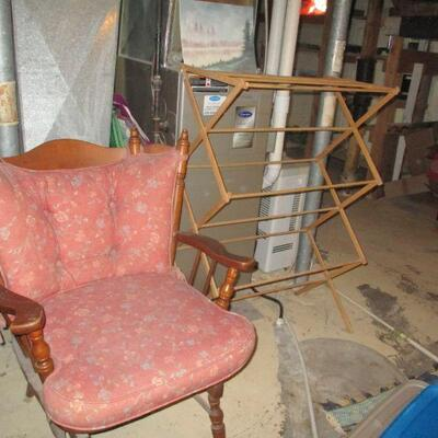 Chair & drying rack