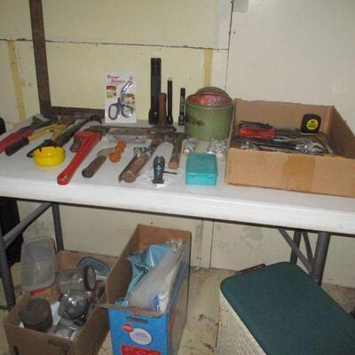 Tools in basement