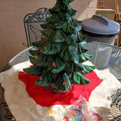 23in Light Up Ceramic Christmas Tree