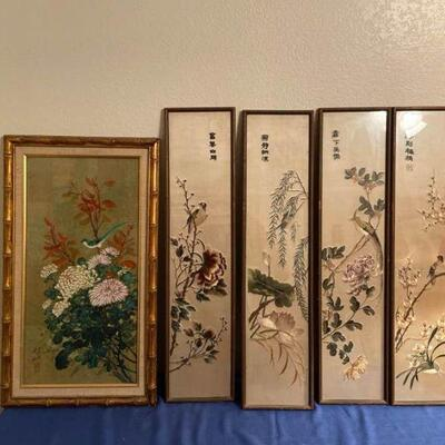 Embroidered Art Lot