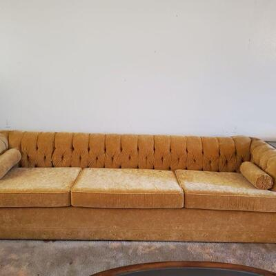 Long Velour Couch