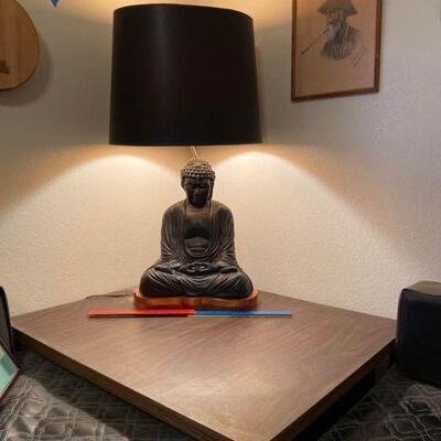 Buddha Lamp and Table