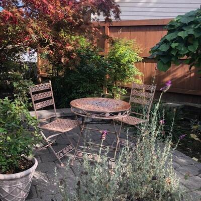 three piece outdoor bistro set