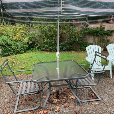 four piece patio set